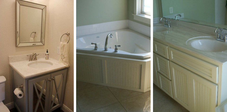 bathroom and tub cabinets